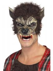 Werewolf Half Face Mask - Brown